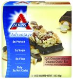 Atkins Nutritionals 3102540 Dark Chocolate Almond Coconut Crunch - 5 per Box
