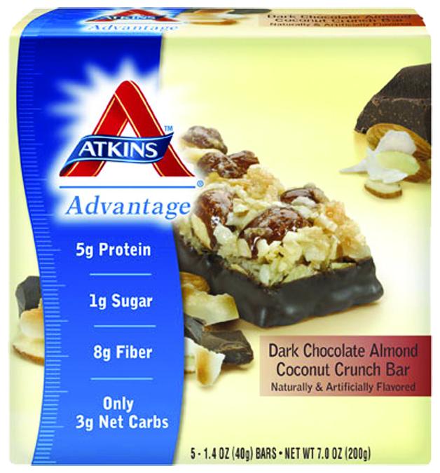 Atkins Nutritionals 3102540 Dark Chocolate Almond Coconut Crunch - 5 per Box