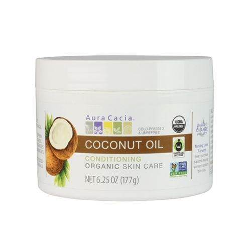 Aura Cacia 190140 Organic Fair Trade Certified Coconut Oil