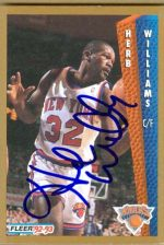 Autograph Warehouse 18884 Herb Williams Autographed Basketball Card New York Knicks 1992 Fleer No. 398