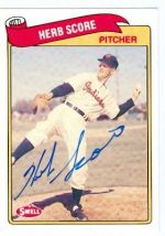 Autograph Warehouse 22286 Herb Score Autographed Baseball Card Cleveland Indians 1989 Swell Legends No. 114
