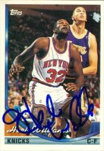 Autograph Warehouse 42504 Herb Williams Autographed Basketball Card New York Knicks 1994 Topps No. 278