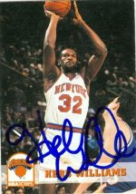 Autograph Warehouse 42505 Herb Williams Autographed Basketball Card New York Knicks 1994 Hoops No. 379