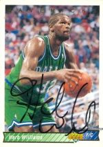 Autograph Warehouse 52015 Herb Williams Autographed Basketball Card Dallas Mavericks 1992 Upper Deck No .213