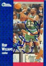 Autograph Warehouse 52022 Herb Williams Autographed Basketball Card Dallas Mavericks 1991 Fleer No .48