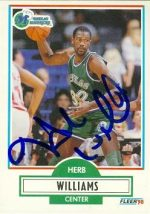 Autograph Warehouse 86934 Herb Williams Autographed Basketball Card Dallas Mavericks 1990 Fleer No .45