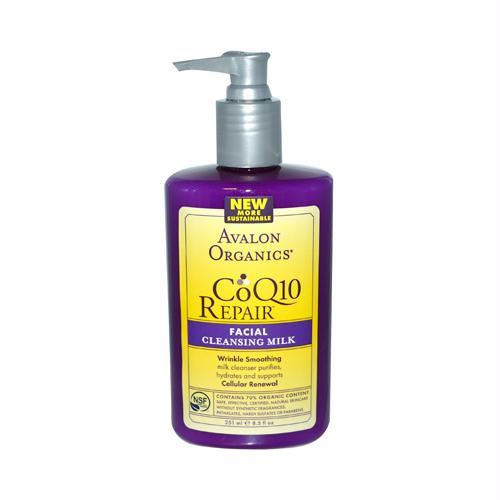 Avalon 137885 Avalon Organics CoQ10 Facial Cleansing Milk - 8.5 fl oz