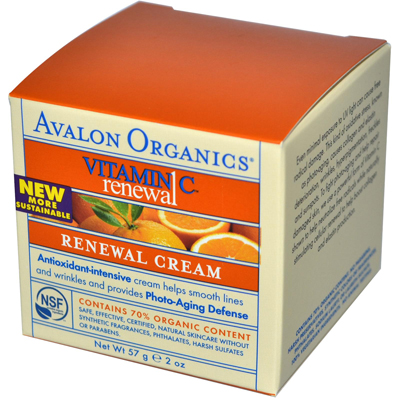 Avalon Active Organics 0633768 Renewal Facial Cream Vitamin C - 2 oz