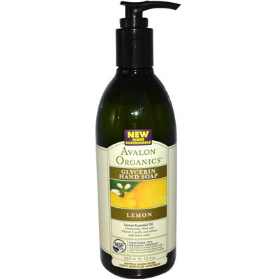 Avalon Organics Glycerin Liquid Hand Soap Lemon - 12 Fl Oz