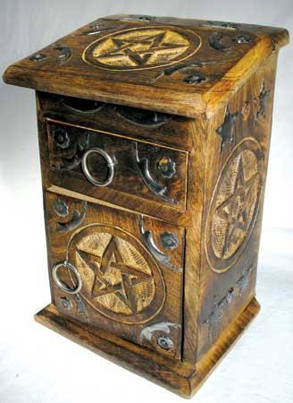 AzureGreen FBWB434 Pentagram Herb Cupboard