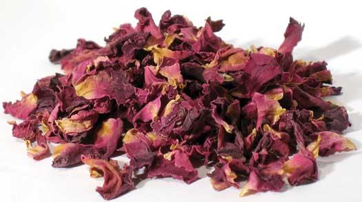 AzureGreen HROSRW 2 oz Rose Buds and Petals Red - Rosa Gallica