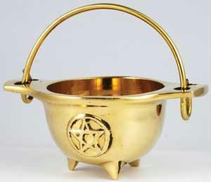 AzureGreen ICBR33 3 in. Small Brass Cauldron