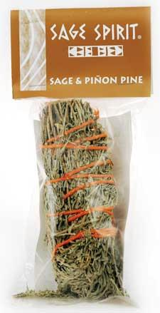 AzureGreen RS5SP 5 in. Sage and Pinon Pine Smudge Stick