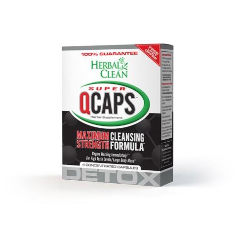 B.N.G. Herbal Clean 1014406 Herbal Clean Super Qcaps Maximum Strength - 4 Capsules