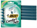 BIC Comfort Twin Blade Sensitive Shaver - Men 5 Count