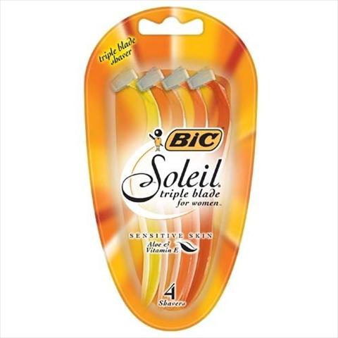 BIC Soleil Sensitive Skin Triple Blade Disposable Razor - Women 4 Count