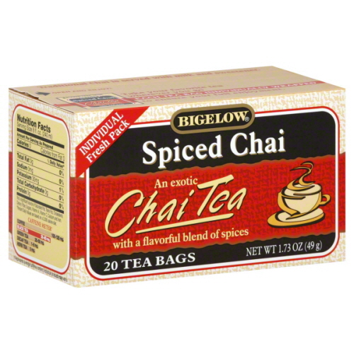 BIGELOW TEA CHAI SPICED-20 BG -Pack of 6
