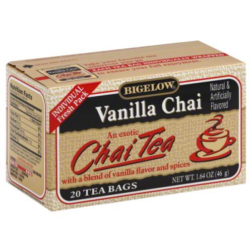 BIGELOW TEA CHAI VANILLA-20 BG -Pack of 6