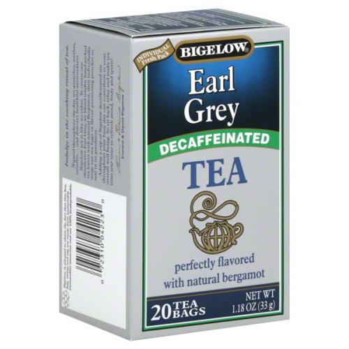 BIGELOW TEA DECAF EARL GREY-20 BG -Pack of 6