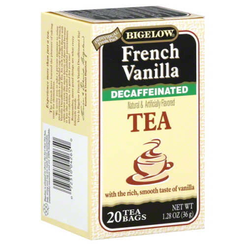 BIGELOW TEA DECAF FRNCH VNLA-20 BG -Pack of 6