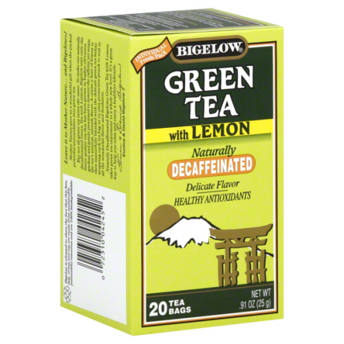 BIGELOW TEA DECAF GRN LEMON-20 BG -Pack of 6