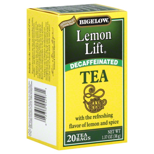 BIGELOW TEA DECAF LEMON LIFT-20 BG -Pack of 6