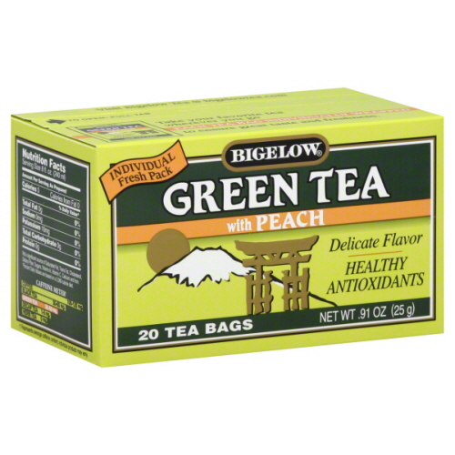 BIGELOW TEA GRN PEACH-20 BG -Pack of 6