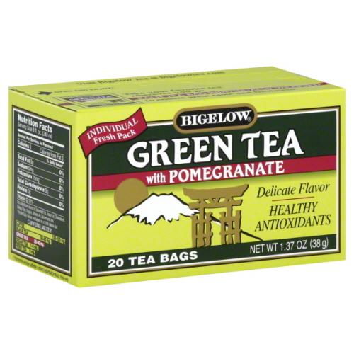 BIGELOW TEA GRN PMGRNT-20 BG -Pack of 6
