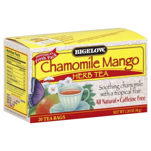 BIGELOW TEA HERB CHAMOMILE MANGO-20 BG -Pack of 6