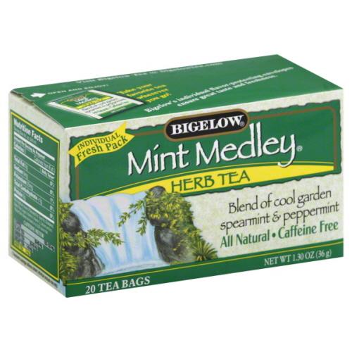 BIGELOW TEA HERB MINT MEDLEY-20 BG -Pack of 6