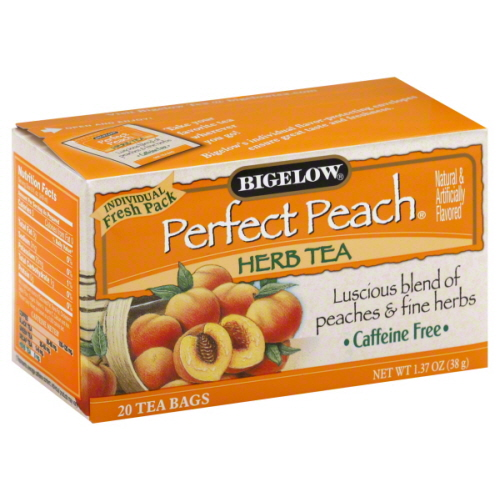 BIGELOW TEA HERB PERFECT PEACH-20 BG -Pack of 6