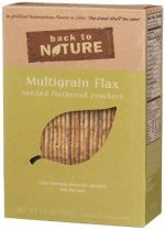 Back To Nature Multigrain Flax Seeded Flatbread Cracke Roasted - (Pack of 6)