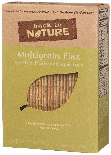 Back To Nature Multigrain Flax Seeded Flatbread Cracke Roasted - (Pack of 6)