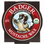 Badger Navigator Class Man Care Man Mustache Wax Badger .75 oz. Tin