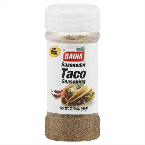 Badia Taco Seasoning 2.75 Oz -Pack of 12
