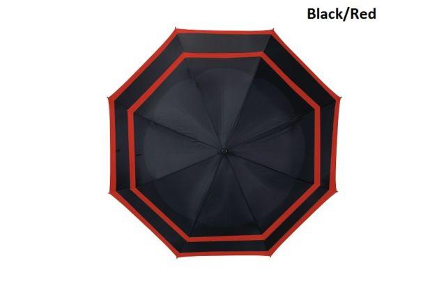 Bag Boy BB15856 62 in. Modern Assorted Telescoping Wind Vent Auto Umbrella Black & Red