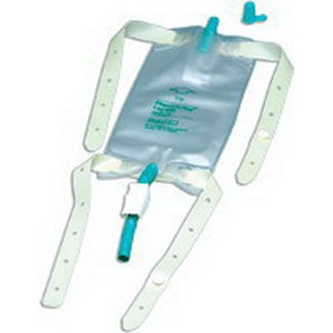 Bard Home Health Division 57150107 19 oz Leg Bag with Rubber Cap Valve & Latex Straps
