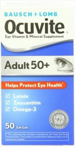 Bausch Lomb Ocuvite Adult 50 Plus Vitamin & Mineral Supplement 50 Count