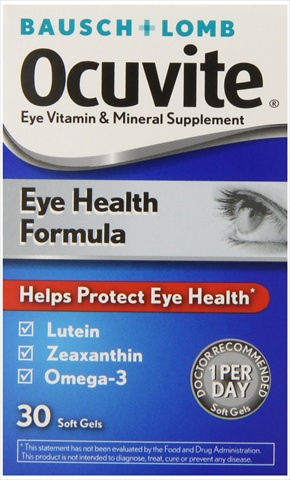 Bausch Lomb Ocuvite Eye Health Multi Vitamins 30 Count