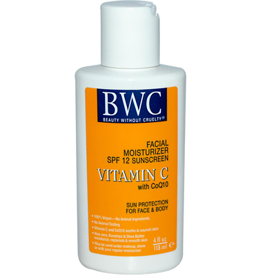 Beauty Without Cruelty 0590836 Facial Moisturizer SPF 12 Sunscreen Vitamin C with CoQ10 - 4 fl oz