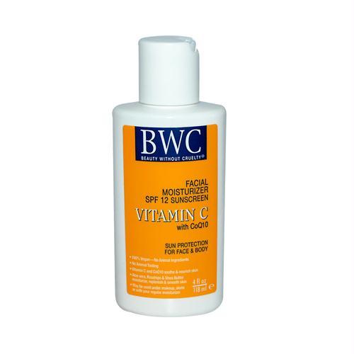 Beauty Without Cruelty 590836 Beauty Without Cruelty Facial Moisturizer SPF 12 Sunscreen Vitamin C with CoQ10 - 4 fl oz