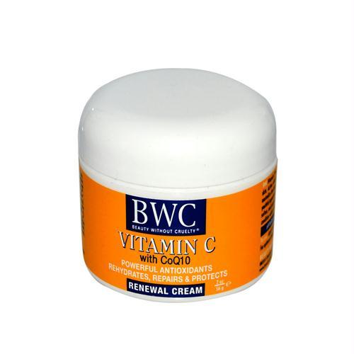 Beauty Without Cruelty 590992 Beauty Without Cruelty Renewal Cream Vitamin C with CoQ10 - 2 oz