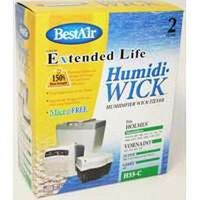 Bestair 0718908 Wick Filter for Use with Humidifier 7 x 9.25 x 1.625in. Aluminum - White