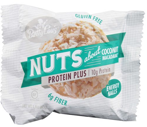 Betty Lous 1552595 1.7 oz Protein Plus Coconut Nuts Butter Ball 12 Count