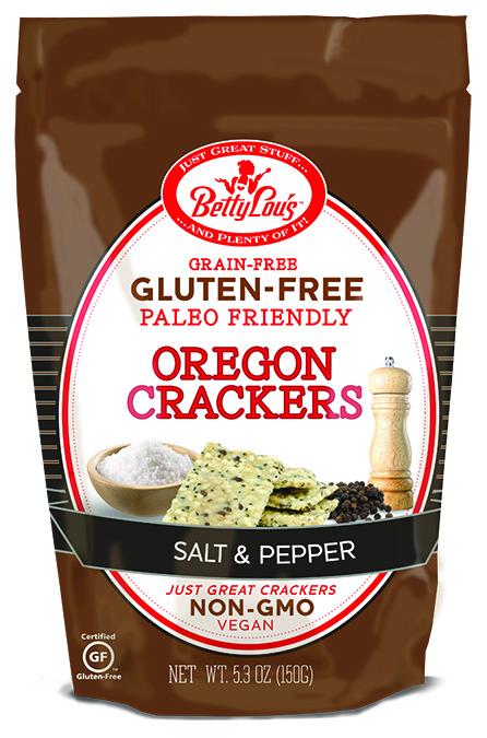 Betty Lous 652402 5.3 oz Paleo Salt & Pepper Crackers