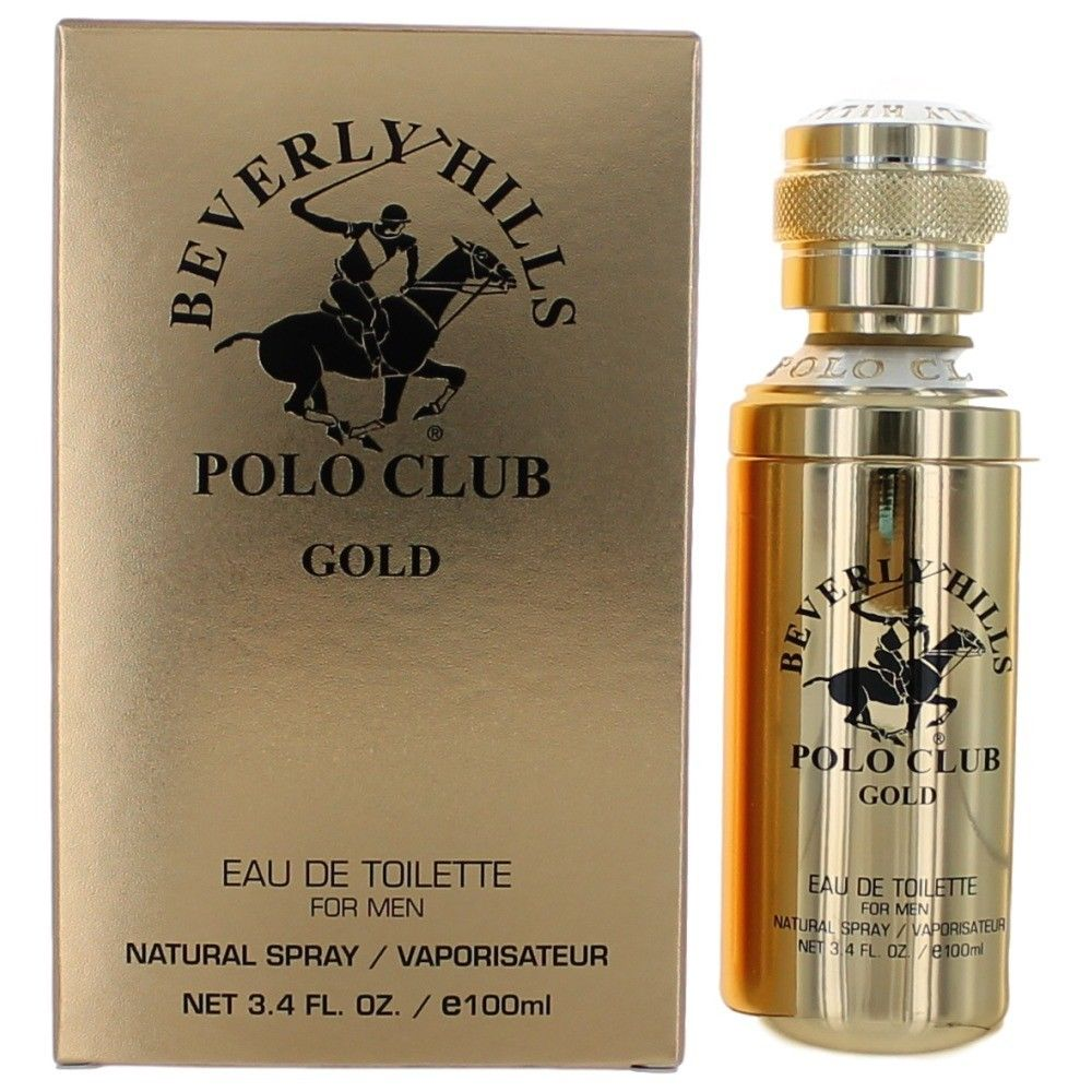 Beverly Hills Polo Club ampcbhg34s 3.4 oz Gold Eau de Toilette Spray for Men
