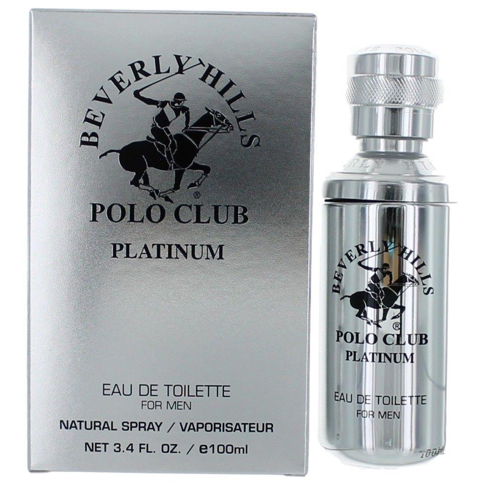 Beverly Hills Polo Club ampcbhp34s 3.4 oz Platinum by Beverly Hills Polo Club Eau De Toilette Spray for Men