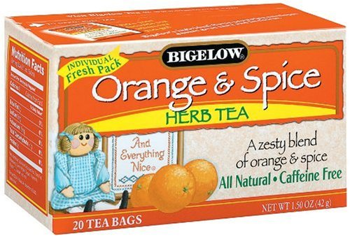 Bigelow 28241 Orange & Spice Herb Tea