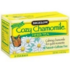 Bigelow 28253-3pack Bigelow Cozy Chamomile Herb Tea - 3x20 bag