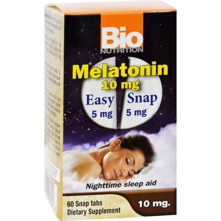 Bio Nutrition 1702836 10 mg Gluten Free Melatonin Nighttime Sleep Aid 60 Tablets